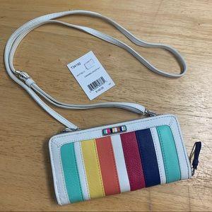 Brighton Multi Color Crossbody Wallet Caramba